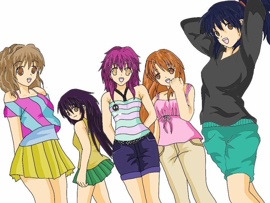 5 Girl Friends by InaSaori on DeviantArt