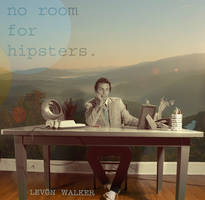 no room for hipsters CD art by Dustinaddair