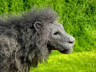 Metallic Lion by Alimba