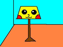 Pikachu lamp by TheFlattened-Pikachu