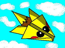 pikachu paperplane by TheFlattened-Pikachu