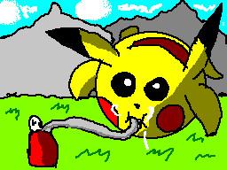 inflated pikachu by TheFlattened-Pikachu