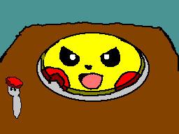 angry pikachu pancake by TheFlattened-Pikachu