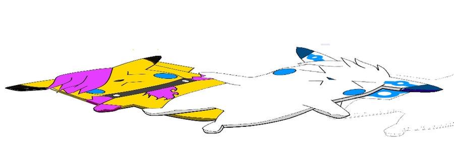 Silverchu and Tarian Flattened by TheFlattened-Pikachu