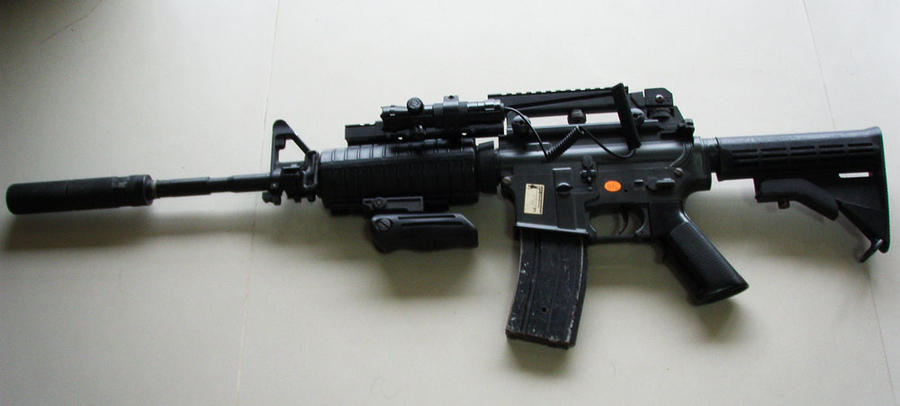 Colt M4A1 Carbine Silenced by sudro on DeviantArt M16 Acog