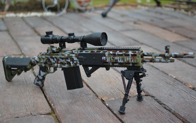 M14 EBR custom digital paint by sudro