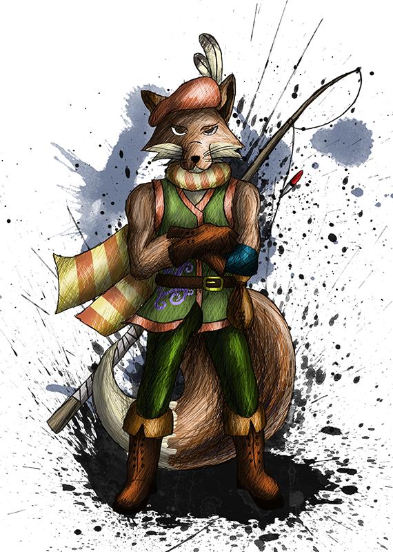 Reynard the Fox - Character design by sudro
