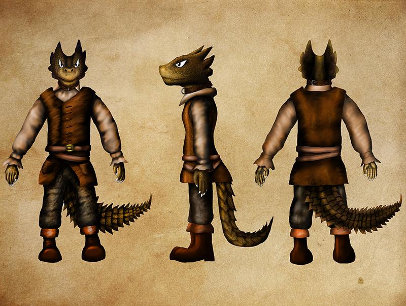 El-Dinosaur - Character design by sudro