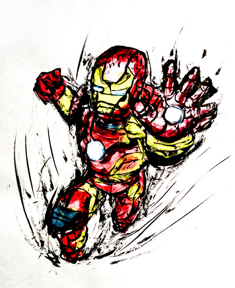 Iron man painting by sudro