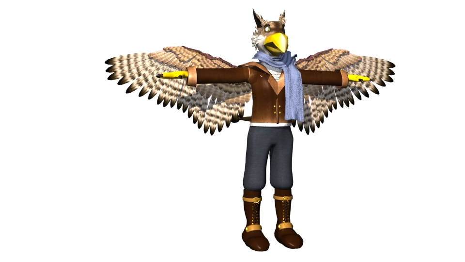 Anthro Gryphon model by sudro