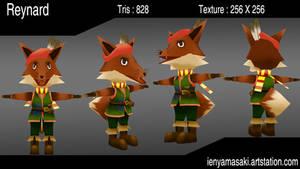 Reynard The fox - Low Poly model