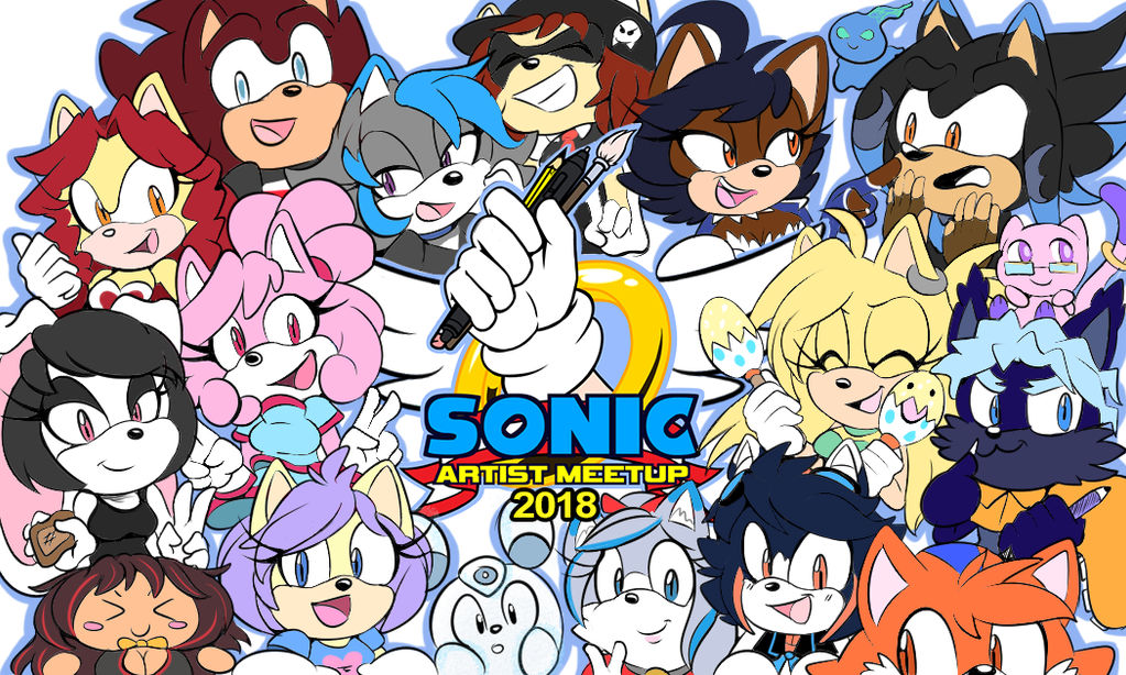 Sonic Artist Meetup Badge by JovialNightz