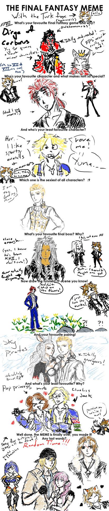The Final Fantasy Meme by Byohazrd13