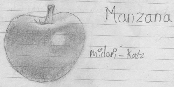 Manzana Realista a lapiz  Realistic Apple by Midorikatz on