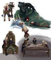 Httyd Interaction poses by MilanaMill