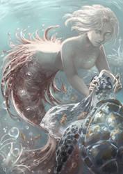 Tropical mermaid + Speedpaint