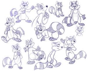 Raccoon doodle dump