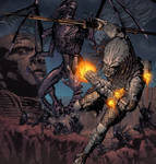 NECA's Ultimate Guardian Predator box illustration