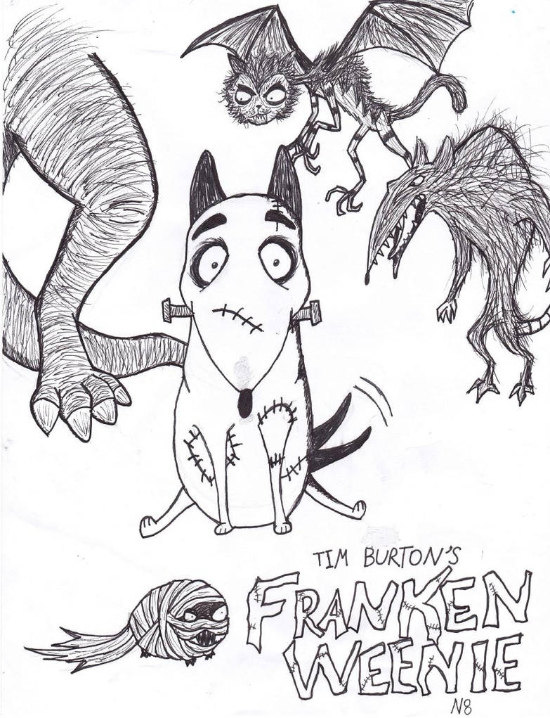 Frankenweenie Fan Art By Monstrositynumba8 On Deviantart