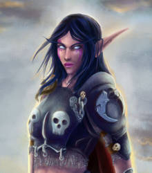 Death Knight Venia closeup