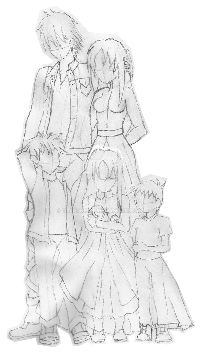 Seal, Chrono, Justin, baby Tilly sketch by ToAtoneArt