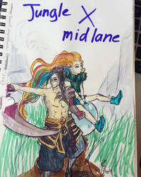 Jungle x mid (league of legends) by Alvent-in-Dark
