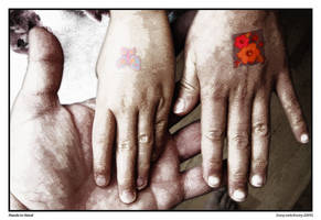 Tattooed Hands in Hand by Frostola