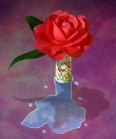 Carmelia in Vase by Frostola