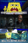 Nick fury talks to spongebob about his mouth by NickNinja02