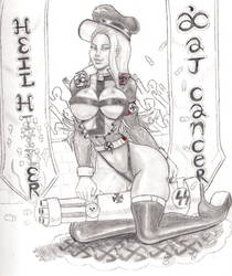 Sexy Nazi Officer 4. HEIL HER ! by AJCancer