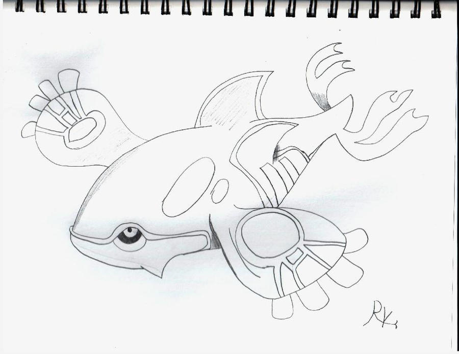 how to draw a kyogre