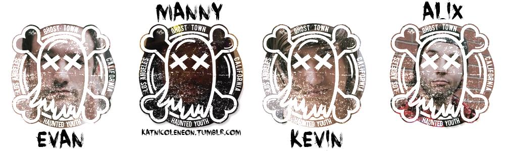 Ghost town stickers by twilightcullenette