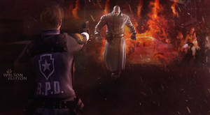 Resident Evil 2 Remake Art by: Wilson Burton.