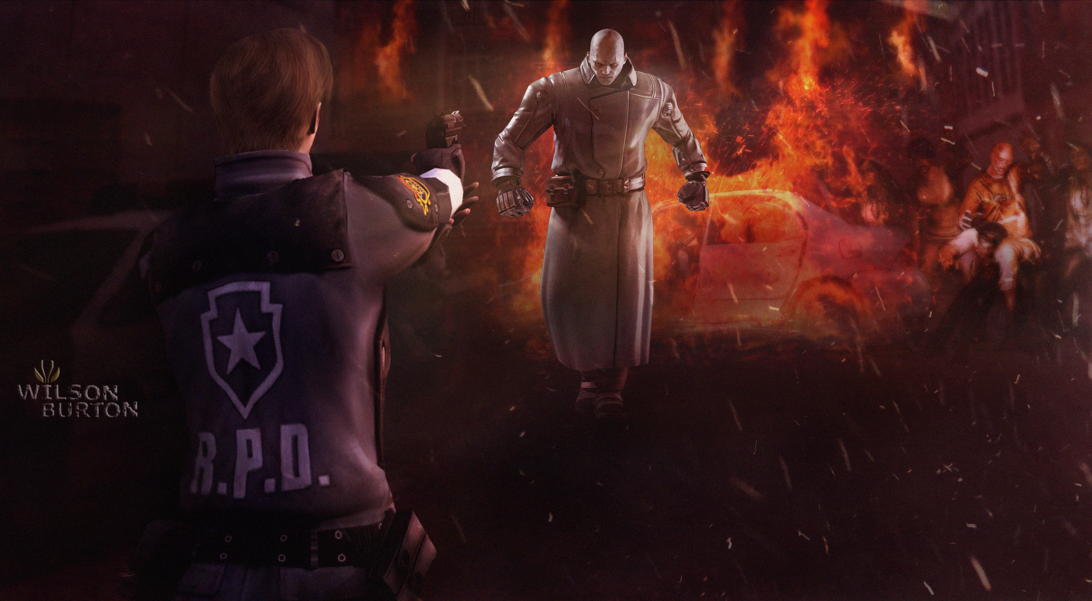 Resident evil 2 remake art by wilson burton by wilsonburton20 on