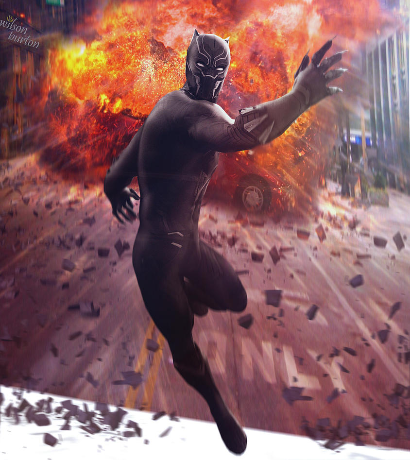 The Black Panther (T'Challa) By: Wilson Burton. by wilsonBurton20