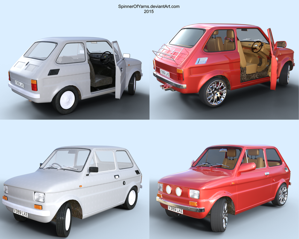 Pimp My Fiat 126 (3Dkitbash) by SpinnerOfYarns