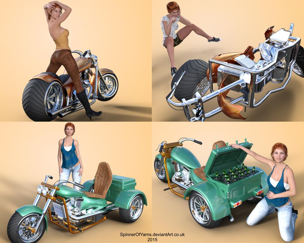 Trike Bike (3Dkitbash) by SpinnerOfYarns