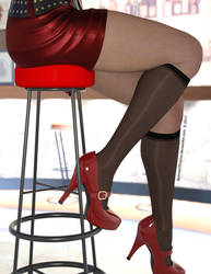 Legs At A Bar by SpinnerOfYarns
