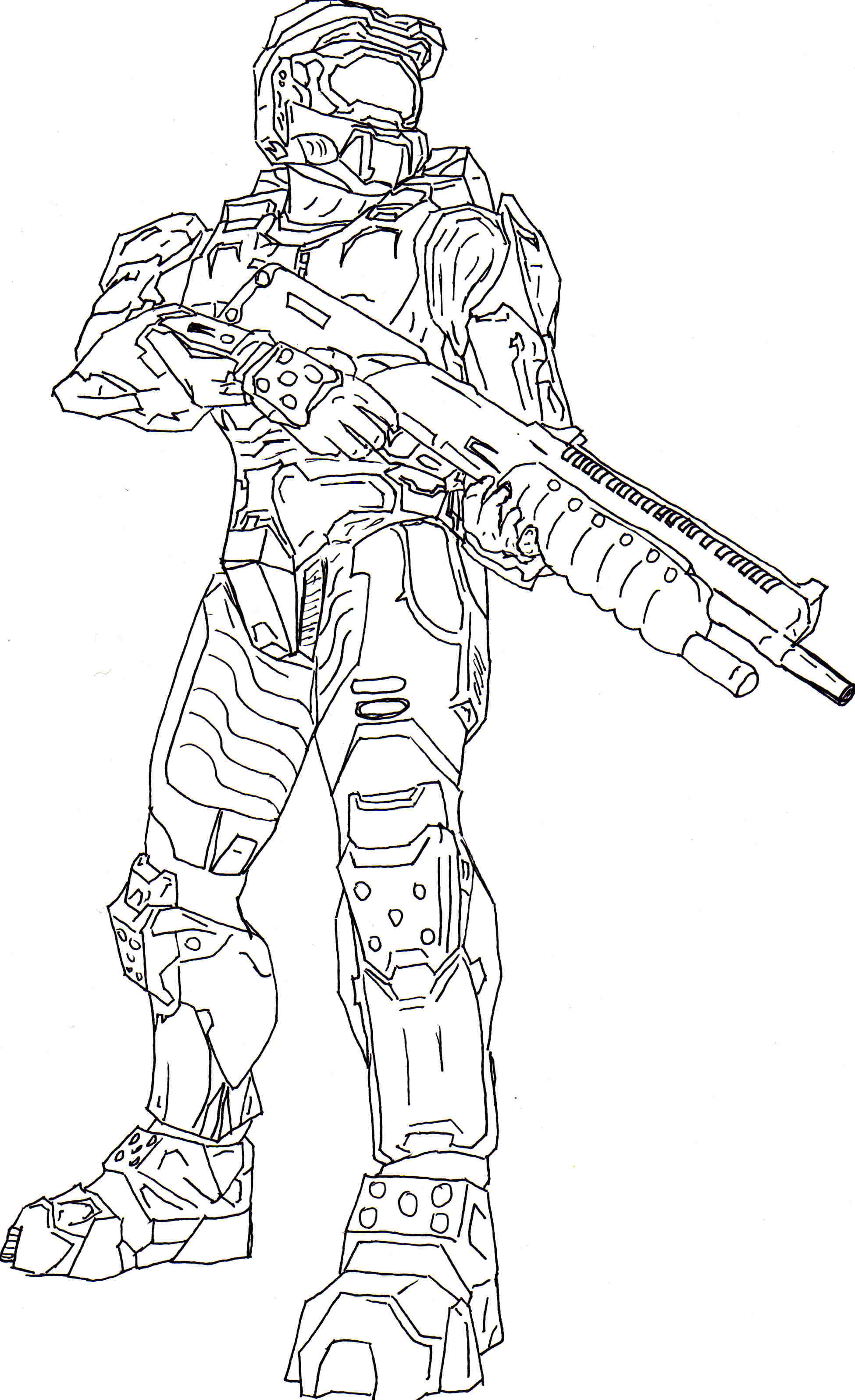 master chief coloring pages the master chief by seraphofatonement on deviantart