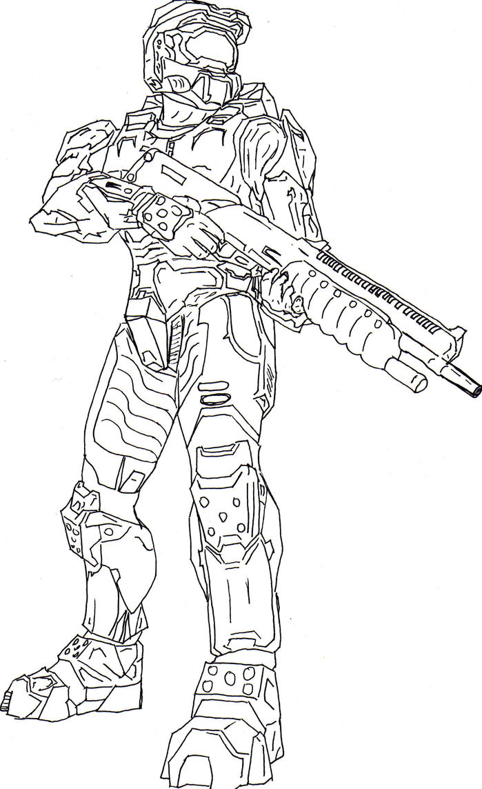 Halo Master Chief Free Coloring Pages Master Chief Coloring Page