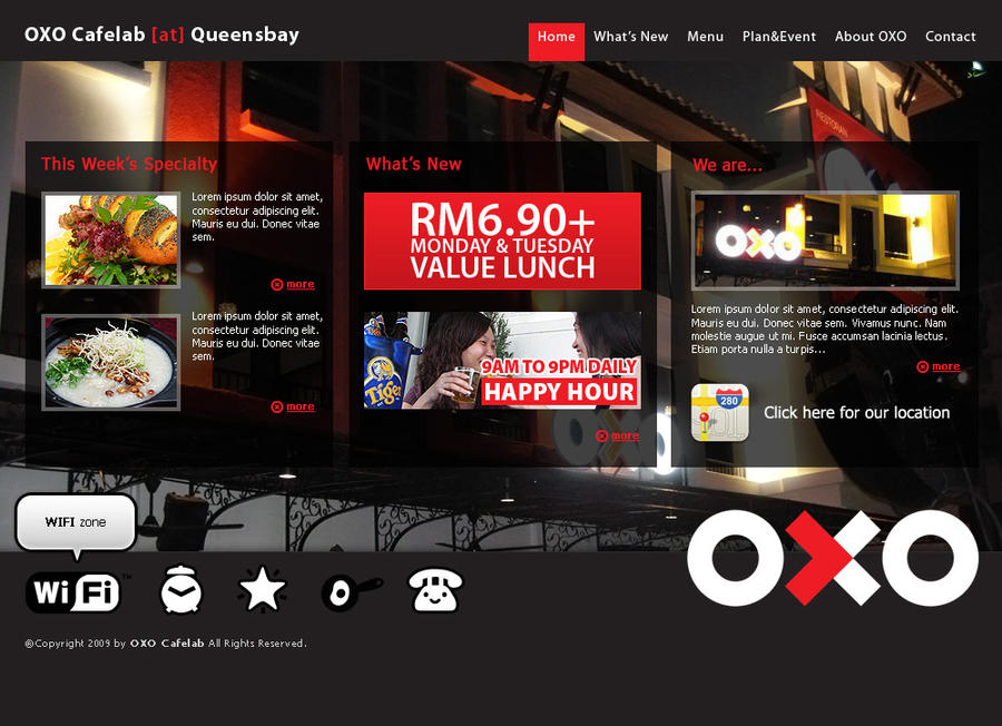 OXO cafelab website mockup by projectDC