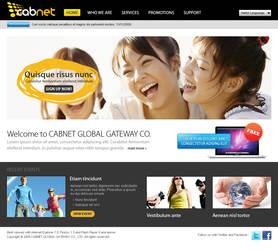 Cabnet website mockup by projectDC
