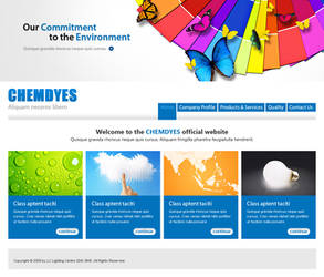 Chemdyes website mockup