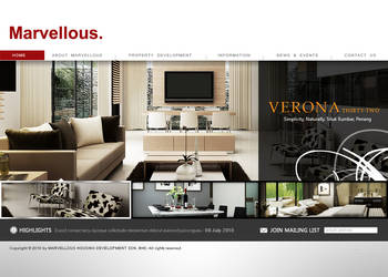 Marvellous website mockup by projectDC