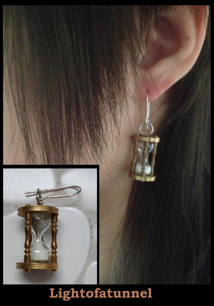 Time Glass Earring by Lightofatunnel