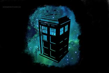 TARDIS Wallpaper - Black Edition. by MrGrandhighmonkey