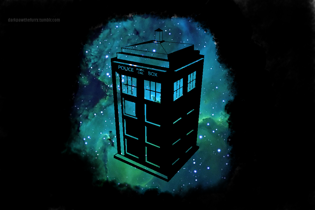 TARDIS Wallpaper - Black Edition  by MrGrandhighmonkeyTardis Art Wallpaper