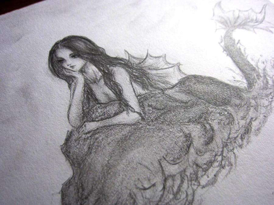 mermaid sketch by michiyokatou