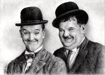 Stan Laurel and Oliver Hardy by Giuko