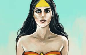 Wonderwoman - sketch by minoanoa